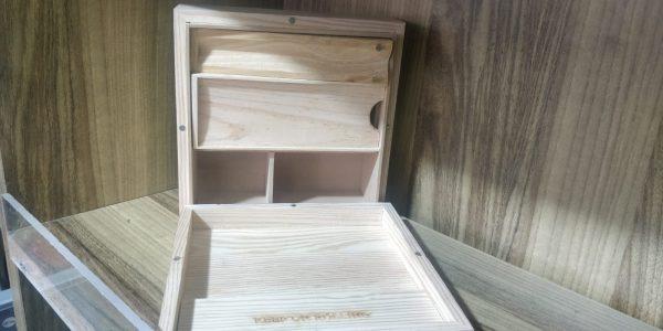 קופסת אחסון מעץ - ריליף